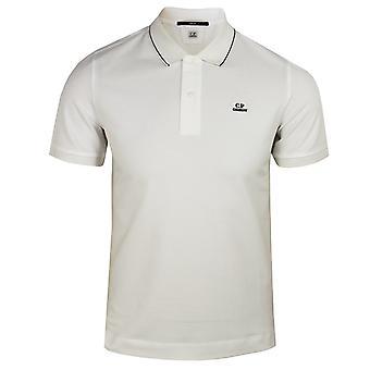 C.p. company men's white polo shirt