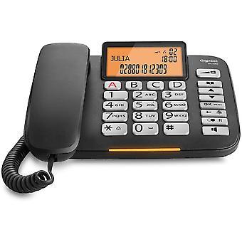 FengChun DL580 - schnurgebundenes Senioren Telefon - Tischtelefon mit extra leichter Bedienung und