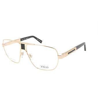 ZILLI glasögon Ram Titanacetat Läder Frankrike Tillverkad ZI 60047 C01