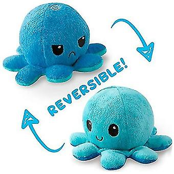 Reversible octopulushie black gray show your mood without saying a word pl-37