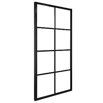 vidaXL Schiebetür Aluminium und ESG-Glas 102,5×205 cm Schwarz