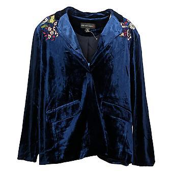 كولين لوبيز المرأة بليزر XL ريج المخملية البوليستر الأزرق 617599