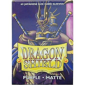 Dragon Shield Matte Purple Japanese Size Card Sleeves - 60 Sleeves