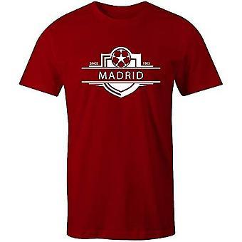 Sporting empire atlético madrid 1903 established badge kids football t-shirt-small boys (5-6yrs) red