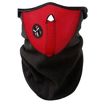 2Pcs rouge moto vélo d'extérieur équitation masque anti-poussière, protection solaire et protection uv masque d'équitation az11689