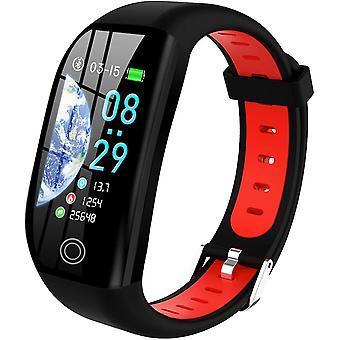 كرونوس Smartwatch المرأة رجل الطفل IP68 المقاوم للماء الذكية سوار المعصم شاشة ملونة ساعة ذكية مع القلب عداد الخطى النوم إنذار الإخطارات لفون هواوي سامسونج Xiaomi سوني (الأحمر)