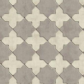 AS Creation Neue Wände Marokkanische Fliesen Grau Tapete 37421-5