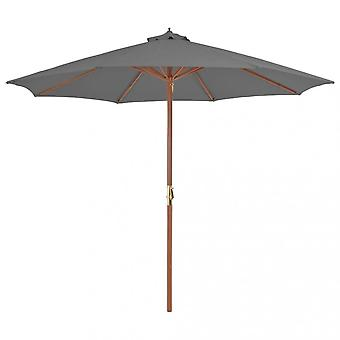 Chunhelife Outdoor Parasol With Wooden Pole 300 Cm Anthracite