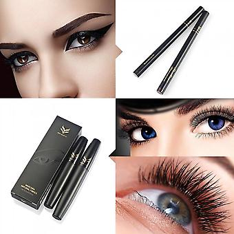 Liquid Eye Liner Pen Set With 3d Thicken Lengthen Mascara Beauty Cosmetic Tool