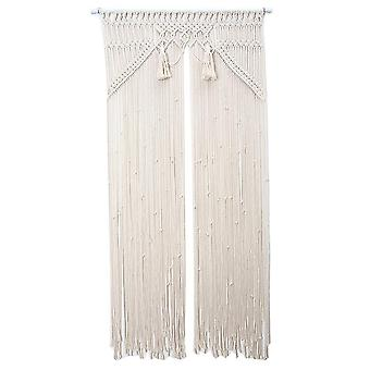80x150cm Wall Hanging Macrame Curtain Bohemian Hand Woven Tapestry Door Curtain Decoration
