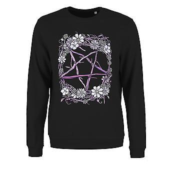 Grindstore Naisten/Ladies Pagan Pentagram Collegepaita