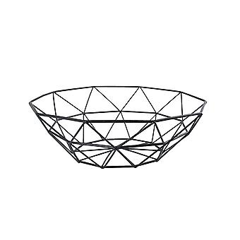 Factory direct supply Nordic creative wrought iron fruit basket living room household fruit plate