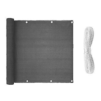 Grau Streifen Netz Outdoor Wind Schild und Anti-Aging-Werkzeuge Porch Zaun Privatsphäre Bildschirm Abdeckung (0,9 x 5m)