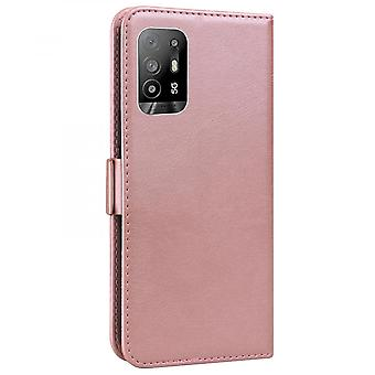 Case For Oppo A94 5g Wallet Flip Pu Leather Cover Card Holder Coque Etui - Pink Cat