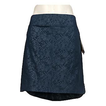 Orvis Women's Shorts Pull-On Skort Polyester Side Pockets Blue
