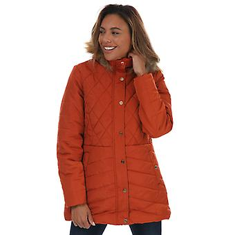 Women's Tokyo Laundry Padded Parka Jacket in Brown