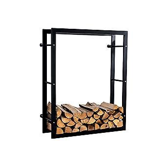 Brennholzständer - Modern - Schwarz - Metall