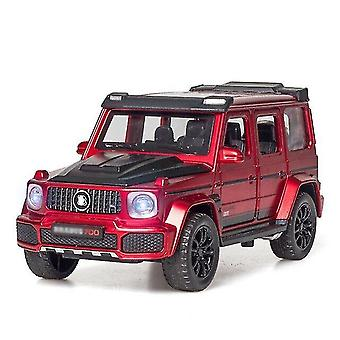 Toy cars 1/32 alloy g700 off-road toy car model die-casting sound and light pull back classic toy car red