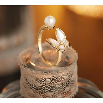 Ring Female Niche Design Fashion Personality Open Ring Fairy Girl Butterfly |Rings