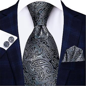 Italialainen hi-tie 100% silkki miesten solmio setti, 8.5cm(C-209)