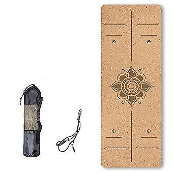 Skandinaavinen tyyli ympäristöystävällinen luonnollinen korkki tpe jooga matto kuntoiluun ja harjoitteluun(Db01)