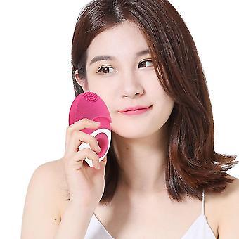 Masseur et nettoyant facial en silicone électrique sans fil imperméable à l'eau (bleu)