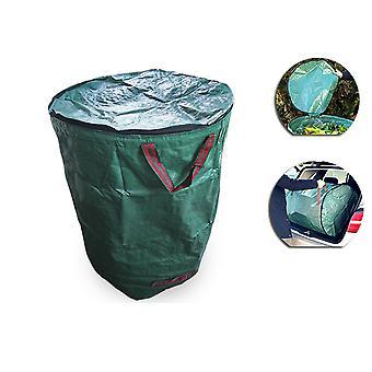 Homemiyn Bolsas de desechos de jardín reutilizables de 72 galones: bolsas de hojas de servicio pesado, bolsas reutilizables de césped, bolsas de desechos de patio con asas