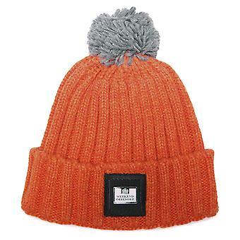 Accessories Weekend Offender Gerdai Knit Bobble Hat in Orange