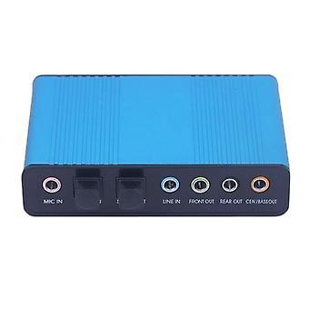 Aionyaaa USB 6 adaptor audio optic extern pentru laptop placa de sunet USB placa de sunet USB