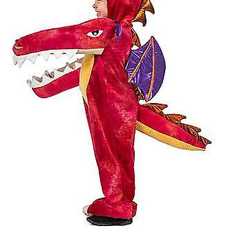 Dinosaurus dier cartoon uit één stuk pyjama podium prestaties kostuum