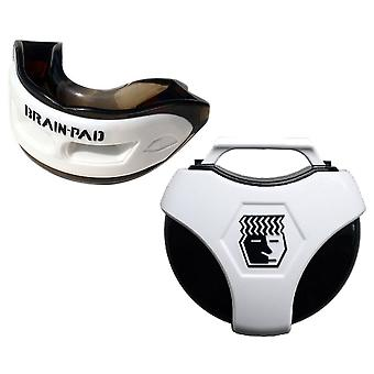 Brain Pad 3XS Professional Mouthguard with Case-Black/White
