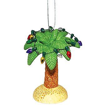 Palm Tree bijgesneden in Christmas Cheer vakantie Ornament keramische 3,5-Inch
