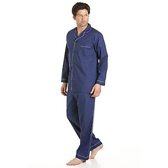 Haigman klassisk stil Mens Navy Blue Pyjamas