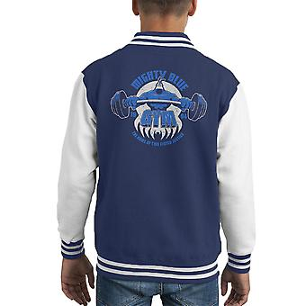 Mighty Blue Gym The Tick Kid's Varsity Jacket