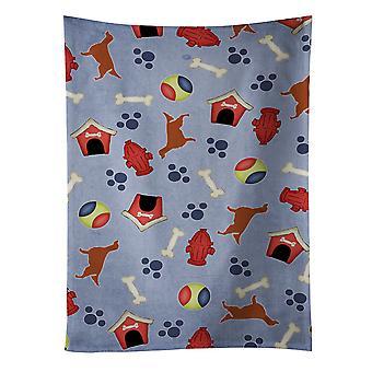 Carolines Schätze BB3893KTWL Irish Red Setter Hund Haus Sammlung Küchentuch