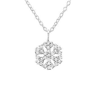 Schneeflocke - jeweled 925 Sterling Silber Ketten - W34564X