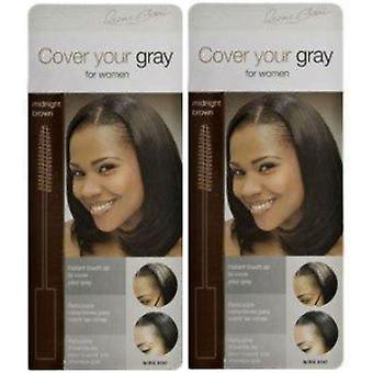 Cover Your Gray Brush-In Midnight Brown (2 Pack)