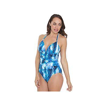 シースプレイ SY007033 女子青絞り染め衣装 1 ピース水着