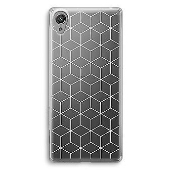 Sony Xperia XA1 przezroczyste etui (Soft) - moduły czarno-białe