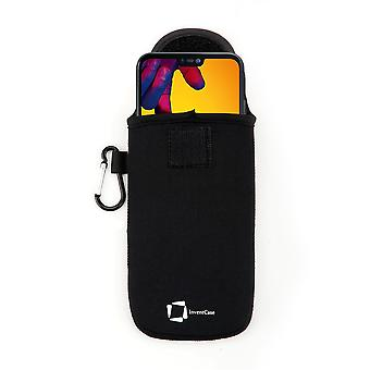 Caja protectora de neopreno InventCase para Huawei P20 lite - Negro