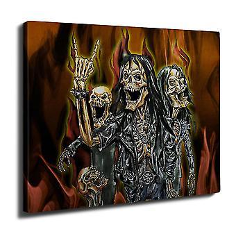 Skeleton Rock Band Wall Art Canvas 40cm x 30cm | Wellcoda