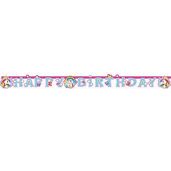 Amscan joyeux anniversaire licorne bannière