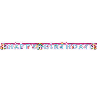 Amscan Happy Birthday Unicorn Banner