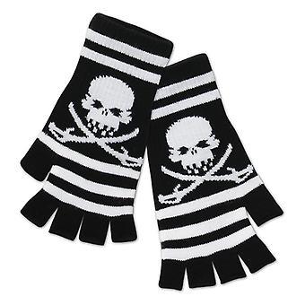 Totenkopf Handschuhe Piraten Stulpen