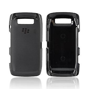 OEM Blackberry גומי Hardshell עם העור לפיד אוכמן 9850/9860 (שחור)