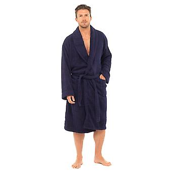 Tom Franks Mens Classic Cotton Supersoft Dressing Gown