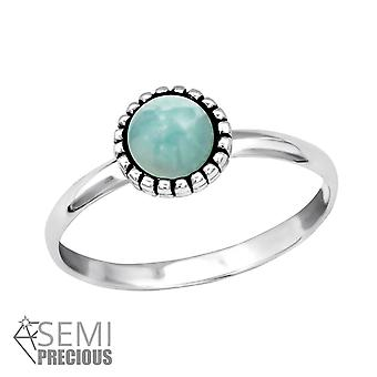 Round - 925 Sterling Silver Jewelled Rings - W30313X
