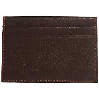 Simon Carter Soft Leather Credit Card Holder - Brown
