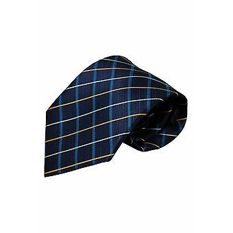 Blauwe zijden stropdas Ilsi 01