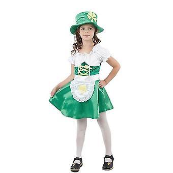 Bnov Leprechaun Girl kostym